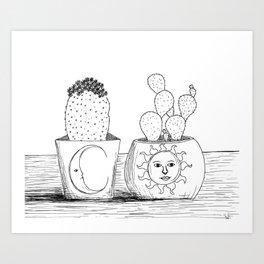 Luna y Sol Art Print