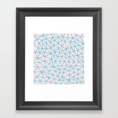 Seg Blue Pink Framed Art Print