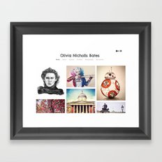 Check out my new site! Framed Art Print