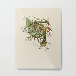 Celtic Initial G Metal Print