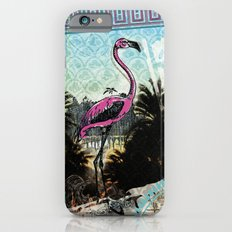 Palm trees and flamingos Slim Case iPhone 6s