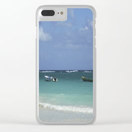 Carribean sea 12 Clear iPhone Case