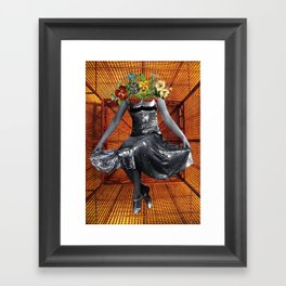 silver dress Framed Art Print