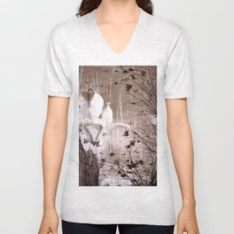 Swans friendship Unisex V-Neck
