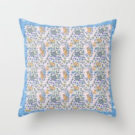 Cats and Bronte Days Throw Pillow