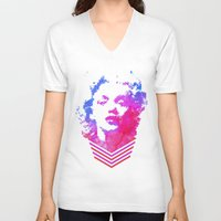 cassandra jean V-neck T-shirts featuring Norma Jean by Fimbis