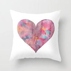 cosmic heart Throw Pillow