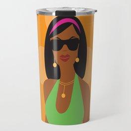 Sunglasses Girl Travel Mug
