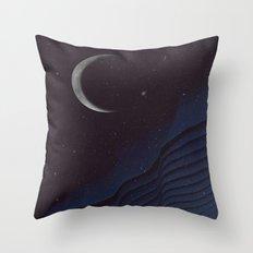 Waxing Cr3sc3nt Glytch Throw Pillow