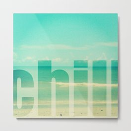 Chill - Photograph - Ocean, beach, waves Metal Print