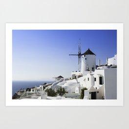 Oia In Santorini Art Print
