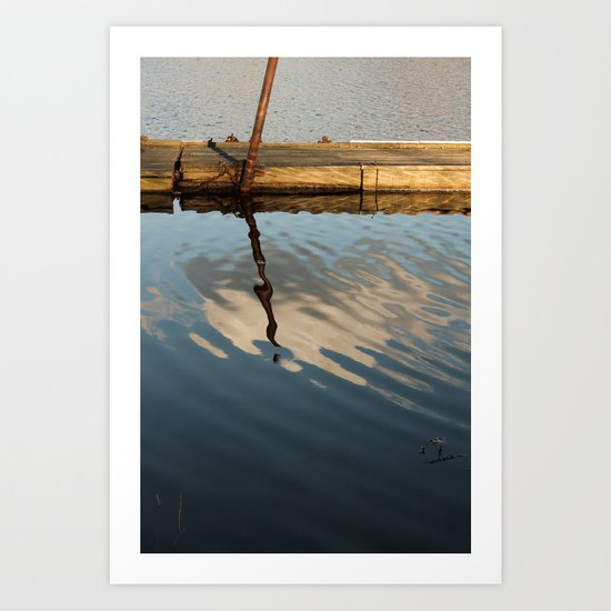 Two Waters and a Cloud Art Print