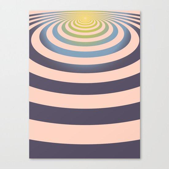 Circle around asymmetrically - Optical game Canvas Print