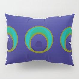 stylized peacock feather pattern Pillow Sham