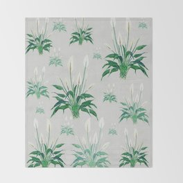 peace lily painting Throw Blanket