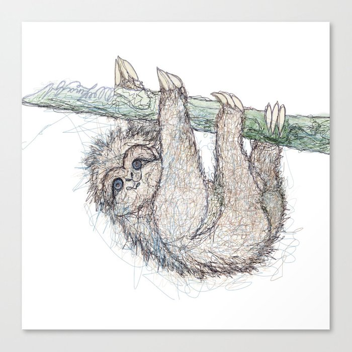 Be Slothful like a Sloth Canvas Print