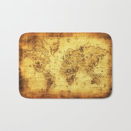 Arty Vintage Old World Map Bath Mat