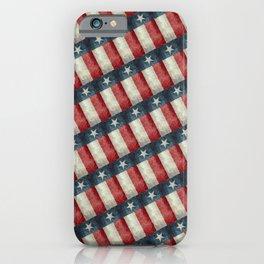 Vintage Texas flag pattern iPhone Case