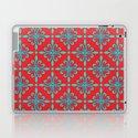 Fleur de Lis - Red & Turquoise by dizanadesigns
