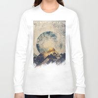 aqua Long Sleeve T-shirts featuring One mountain at a time by HappyMelvin