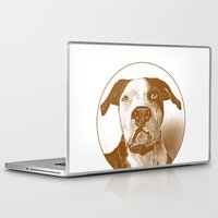 pit bull Laptop & iPad Skins featuring Pit Bull by George Peters