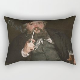 Edouard Manet - Happy Beer Drinker Rectangular Pillow