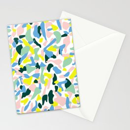 Postmodern Painting in Nile Pastel Stationery Cards