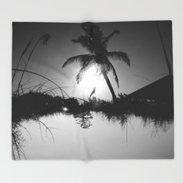 Palm trees and Birches - Upside Up II Throw Blanket