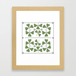 Shamrocks & Trinity Knots Framed Art Print