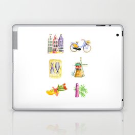 Typical Dutch wooden shoe with tulips Laptop & iPad Skin