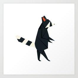 Racсoon Origami Art Print