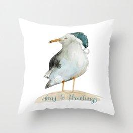 Seas & Greetings Coast Christmas Throw Pillow
