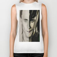 tom hiddleston Biker Tanks featuring Tom Hiddleston by Goolpia