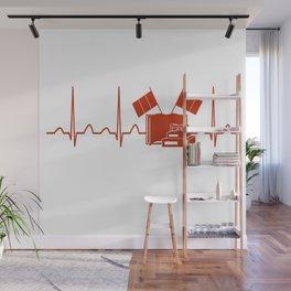 French Teacher Heartbeat Wall Mural