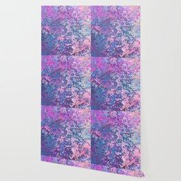 Paint Splatter in Blue Raspberry Wallpaper