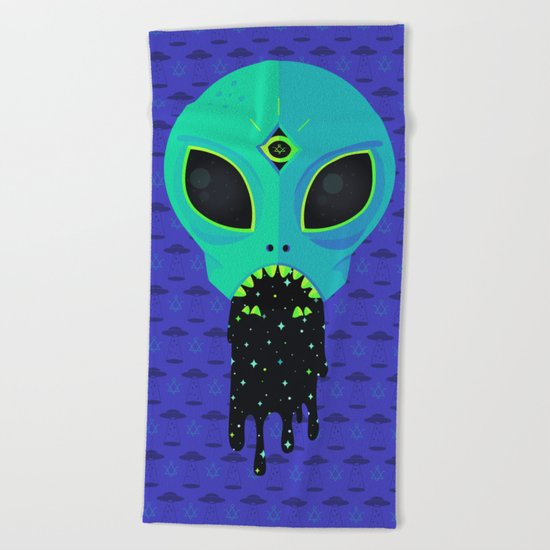 Alien Flu Beach Towel