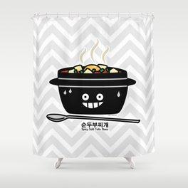 Korean Spicy soft Tofu Stew soup Sundubu jjigae hot Shower Curtain
