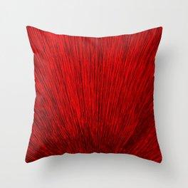 Electroshock Red Throw Pillow
