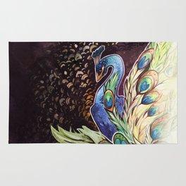 StainedGlass Peacock Rug
