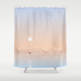 Fisherman fishing Shower Curtain