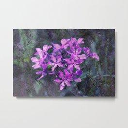 purple pink flower explosions Metal Print