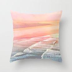 Pink Ocean Throw Pillow