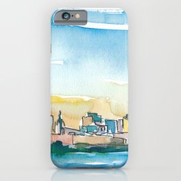 Indianapolis Indiana USA Skyline Impressionistic Skyline iPhone Case