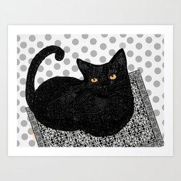 Artie CatDoodle Art Print