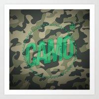camo Art Prints featuring Camo by GabrieleCigna