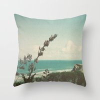 west coast Throw Pillows featuring West Coast by Hilary Upton