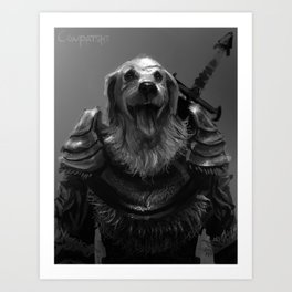 Lord Pup of Caninia Art Print