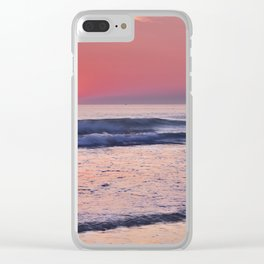 Barrosa Beach Waves At Sunset. Cadiz Clear iPhone Case