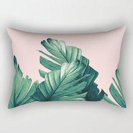 Blush Banana Leaves Dream #3 #tropical #decor #art #society6 Rectangular Pillow