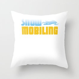 Snowmobiling Snowmobile Ski Racing Snowmachine Winter Travel Gifts Throw Pillow